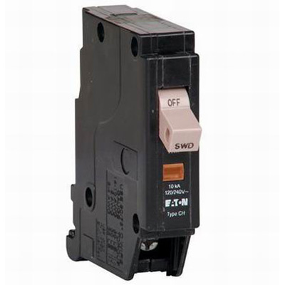 Eaton / Cutler Hammer CHF115 Circuit Breaker With Trip Flag 15 Amp, 120/240 Volt AC, 1-Pole, Plug-On Mount,""