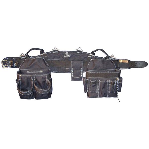 Gatorback B240M Combo Electricians Tool Belt; 2 Inch Belt Width, Fabric, Medium, Black, 27 Pockets