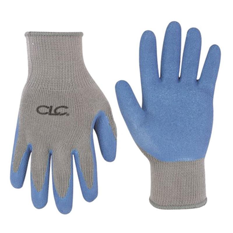 L.H. Dottie 2030L Latex Gripper Gloves; Large, Natural Latex Rubber Dip