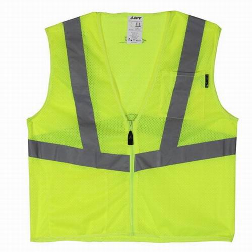 Lift Safety AVV-10LL Vis-Pro Hi-Visibility Safety Vest; Large, Yellow