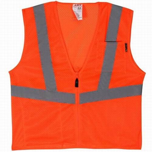 Lift Safety AVV-10EL Vis-Pro Hi-Visibility Safety Vest; Large, Orange