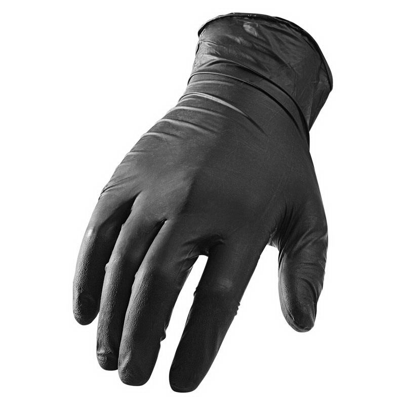 Lift Safety GNX1KL Non-Sterile Latex-Free Ceramic Insulated Disposible Gloves; Medium, Black