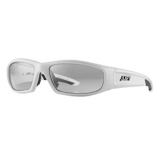 Lift Safety ESH-10WC Style-Series Switch Protective Eyewear; White Frame, Clear Lens