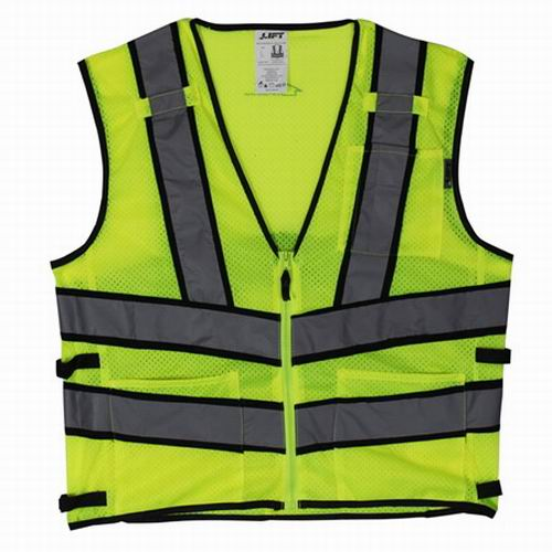 Lift Safety AV2-10LL Vis-Pro Hi-Visibility Safety Vest; X-Large, Yellow
