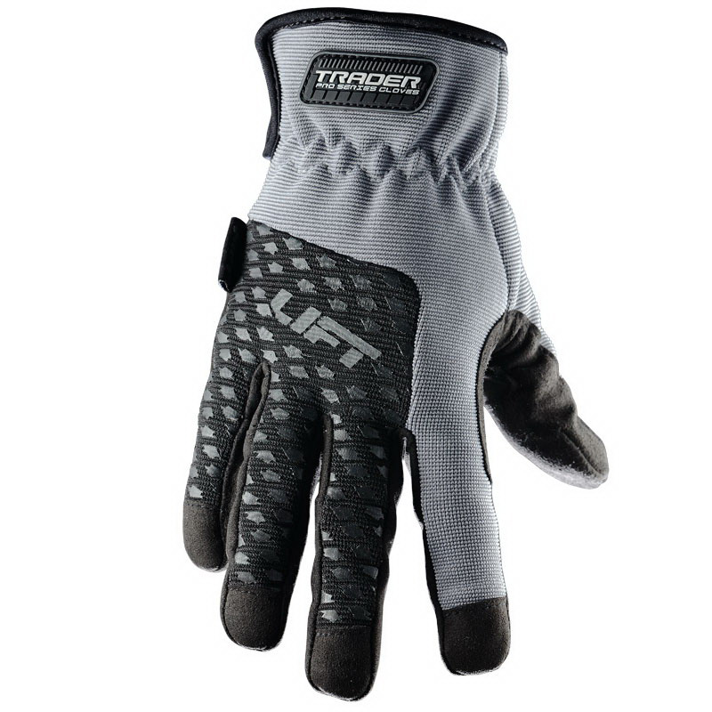 Lift Safety GTR-6KL Pro Series Multi-trade Gloves; Large, Gray, Black Accent