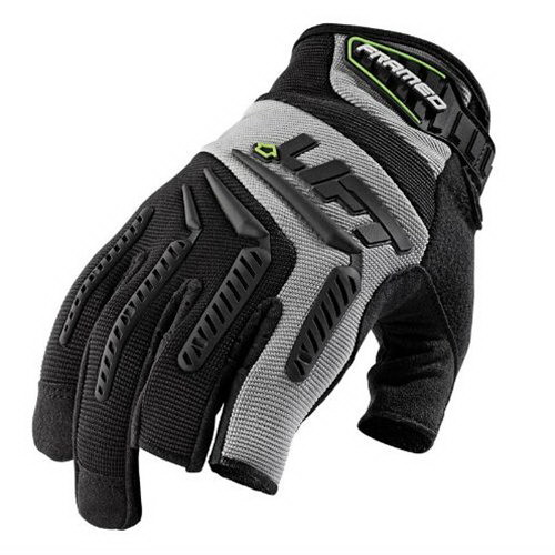 Lift Safety GFD-6KL TIM Pro Series Framed Work Gloves; Large, Gray, Black Accent