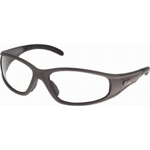 Lift Safety ESR-6C Workman Series Strobe Eyewear; Black Frame, Clear Lens