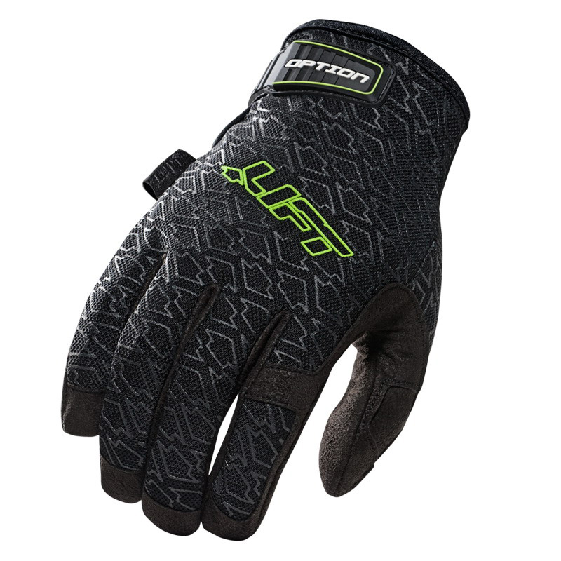 Lift Safety GON-10KL Clarino Pro Series Option Glove; Large, Black, Green Accent
