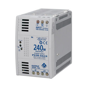 Idec PS5R-SG24 PS5R Slim Line Switching Power Pack; 100 - 240 Volt AC Input/24 Volt DC Output, 10 Amp, 240 Watt, Din Rail/Panel Mounting, 1 Phase
