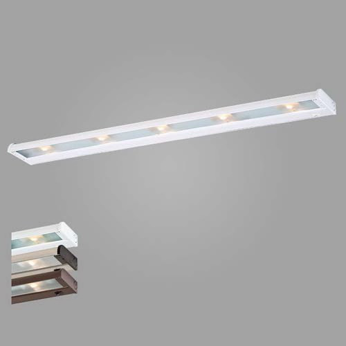 CSL Creative NCAX120-40 CounterAttack® 4-Light Xenon Lamp Under-Cabinet Light Fixture; 35 Watt 270 Lumens 2650K G8 Clear Dimmable, Powder-Coated Paint