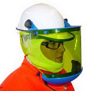 OEL AFW033 Arc Flash Wear High Performance Shield Plastic/Chemical Alloy- Green-