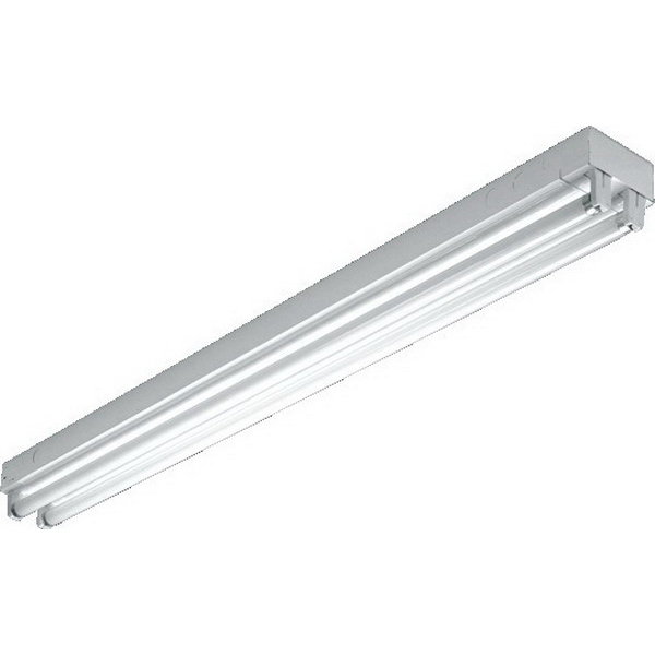 H.E. Williams 76-8-432-QS-EB2*ADBD-UNV 4-Light Surface/Suspended 76 Series Standard Fluorescent Strip Fixture; 32 Watt, White Polyester Powder-Coated