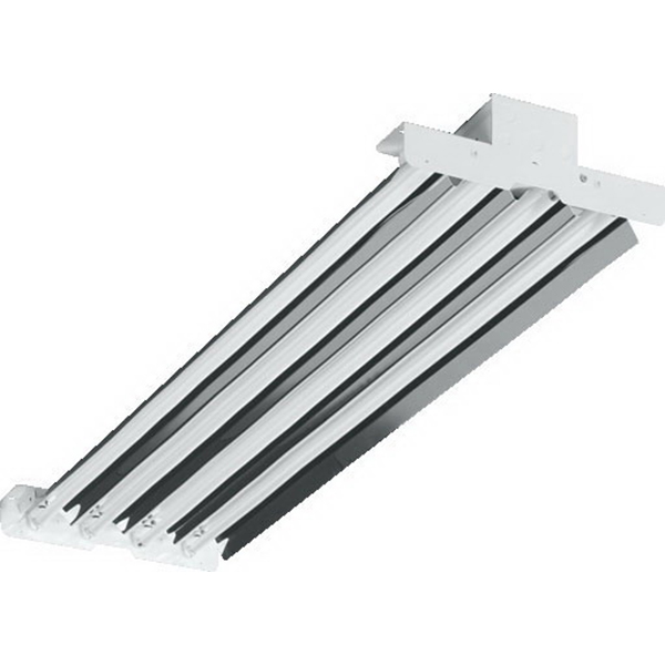 H.E. Williams HL4454T5HMD2VBYQSEB4ADBDUNV 4-Light Suspended Mount HL Series Fluorescent High Bay Fixture; 54 Watt, White Polyester Powder-Coated