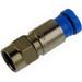 Belden SNS1P6 RG-6 One-Piece Compression F-Type Drop Connector; Snap and Seal Mount, Blue
