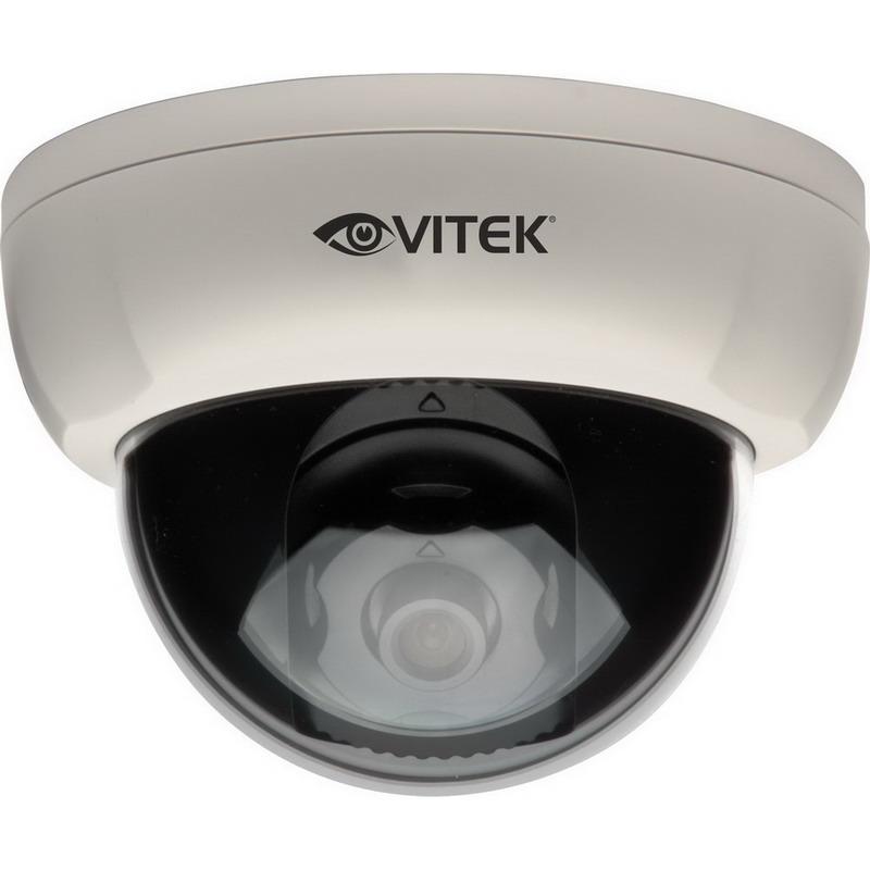"""""Vitek VTDHOC4FIW Dome Camera 3.7 mm Fixed Lens, 2 Megapixel With 1080p/720p,"""""" 43031"