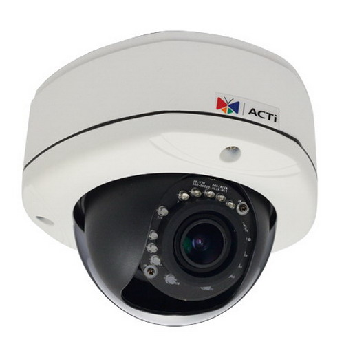 Acti Corporation E-82 Dome Camera; 3 Megapixel With 1080p