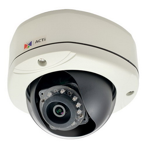 """""""""""Acti Corporation E77 Outdoor Dome Camera Adaptive IR Exposure Compensation x 10 850 N-m, Fixed Lens,"""""""""""" 98795"""