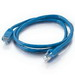 Quiktron 576-110-003 Value Series Cat 6 Booted Patch Cord; 3 ft, Blue