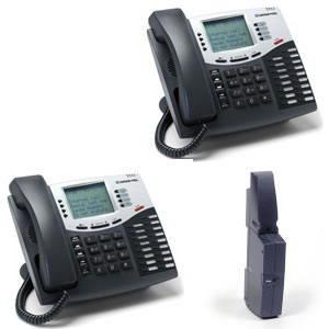MITEL 52002411 2 x 8 Expandable Telephone Base Kit; Charcoal Gray