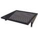 Great Lakes Case & Cabinets 7206-EIA Perforated Single-Sided Stationary Off-Set Shelf; 2-Rack Unit, Black