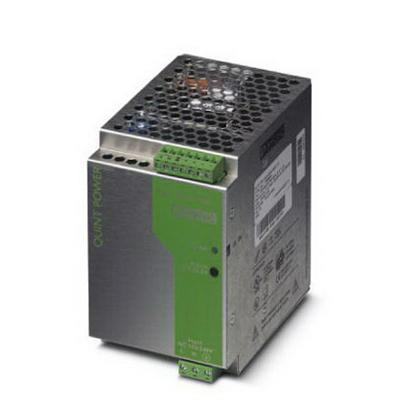 Phoenix Contact Phoenix 2938604 DIN Rail Mount Power Supply; 85 mm Width x 125 mm Length, 100 - 240 Volt AC Input, 24 Volt DC Output, 10 Amp, 1 Phase