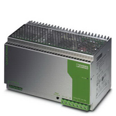 Phoenix Contact Phoenix 2938646 Quint-PS Industrial Power Supply; 400 - 500 AC Volt Input/24 Volt DC Output, 40 Amp, 960 Watt, DIN Rail Mounting, 3 Phase