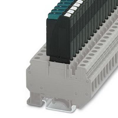 Phoenix 0712194 Miniature Circuit Breaker; 1 Amp, 250 Volt AC/65 Volt DC, 1-Pole, On Base Element/DIN Rail Mount