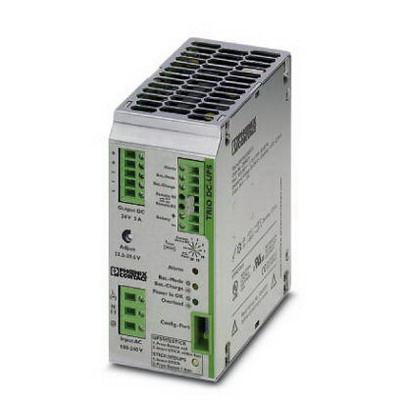 Phoenix Contact Phoenix 2866611 Trio-UPS Power Supply; 100 - 240 Volt DC Input/24 Volt DC Output, DIN Rail Mounting