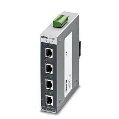Phoenix 2891004 4TX/FX Autocrossing FL Switch SFNT RJ45 Industrial Ethernet Switch; 4-Port, 10/100 Mbps, DIN Rail Mount