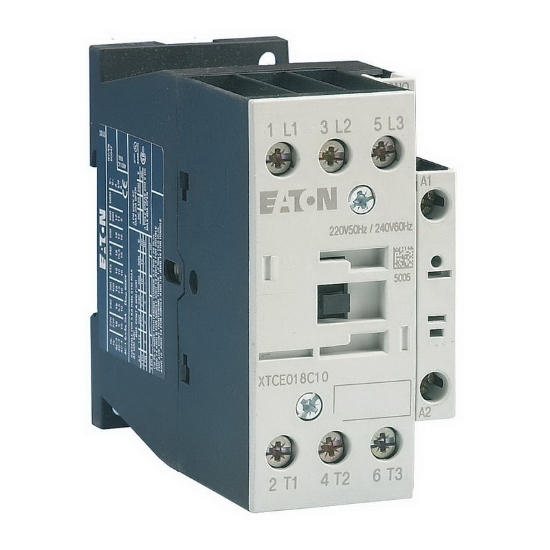 Eaton / Cutler Hammer XTCE032C10B Non-Reversing IEC Contactor; 3-Pole, 1 Or 3 Phase, 32 Amp, 240 Volt Coil