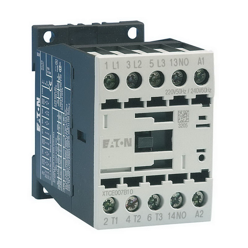 Eaton / Cutler Hammer XTCE015B10A Full Voltage Non-Reversing IEC Contactor; 3-Pole, 1 or 3 Phase, 15 Amp, 120 Volt Coil