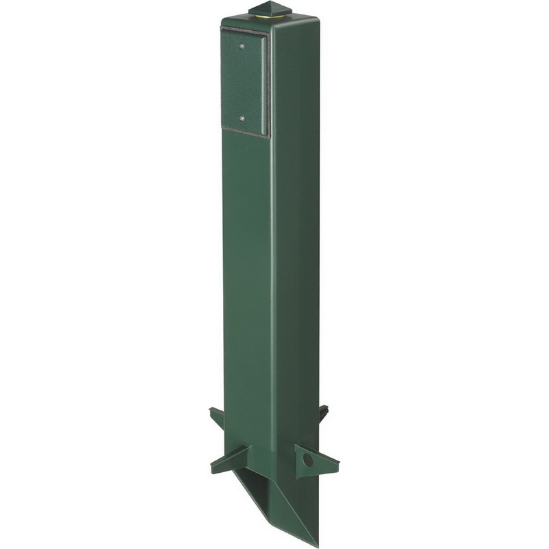 Arlington GP26B Gard-N-Post™ Outdoor Post; 26 Inch Height, UV Rated Plastic, Black