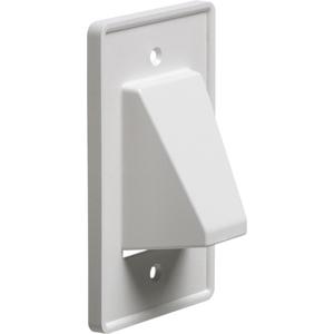 Arlington CE1 Scoop™ 1-Gang Reversible Low-Voltage Cable Entrance Plate; Box, Paintable Plastic, White