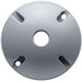RAB C100 Round Weatherproof Cover; 1 Outlet, Silver Gray