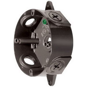 RAB VXC Round Box; 3 Outlet, Wall Or Ceiling Mount, Black