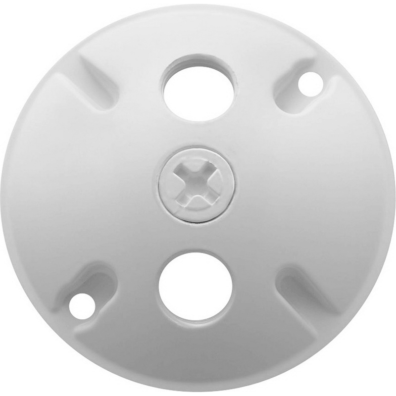 RAB C103W Round Weatherproof Cover; 3 Outlet, White