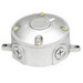 RAB VXJ Weatherproof Round Box With Blank Cover; 5 Outlet, (2) Lugs Wall/Ceiling Mount, Natural
