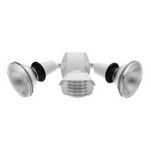 RAB GT500RW Two Head Gotcha PAR38 Incandescent Flood Light Kit; 150 Watt, White, Not Included