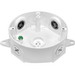 RAB VXCW Round Box; 3 Outlet, Wall Or Ceiling Mount, White