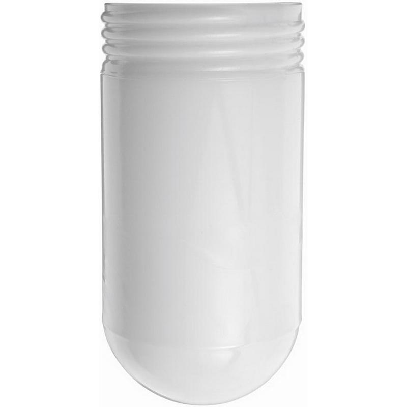 """""RAB GL100W Round Bottom Vaporproof Globe Crystal Lime Glass, White,"""""" 594459"