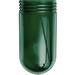 RAB GL100G Cylindrical Round Bottom Vaporproof Globe; Crystal Lime Glass, Green
