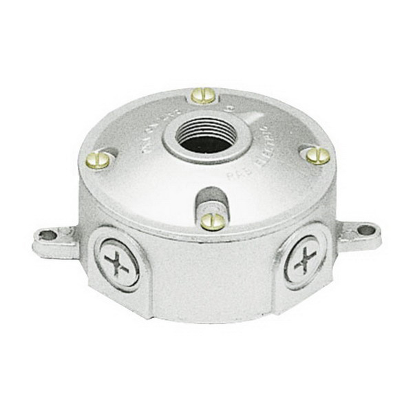 4 4 Weatherproof Electrical Box: RAB VXJ2-3/4 Weatherproof Round Box With 3/4 Inch Cover; 6