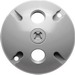 RAB C103 Round Weatherproof Cover; 3 Outlet, Silver Gray