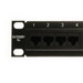 Shaxon MP155HA248 Spectrum™ 110-Punchdown Category 5e Patch Panel; Rack Mount, 24-Port, 1-Rack Unit, Black