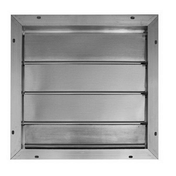 Broan Nu-Tone 433 Ventilator Automatic Shutter; For Gable Mounted Attic Ventilator, Extruded Aluminum