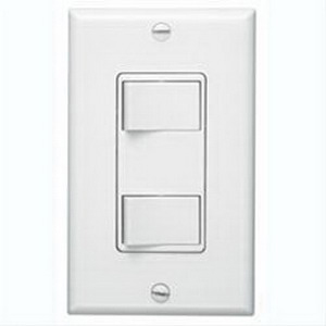 Broan Nu-Tone 68W 2-Function Control; 120 Volt AC, 20 Amp, Rocker Switch, White