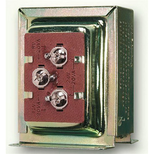Broan Nu-Tone C909 Signaling Tri Volt Door Chime Transformer; 1 Phase, 8/16/24 Volt, Surface Mount