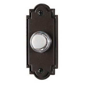 Broan Nu-Tone PB15LBR Lighted Flat Wired Pushbutton; Bronze, Oil Rubbed