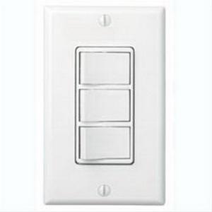 Broan Nu-Tone 77DW Switch; 120 Volt AC, 15, 5 Amp, White