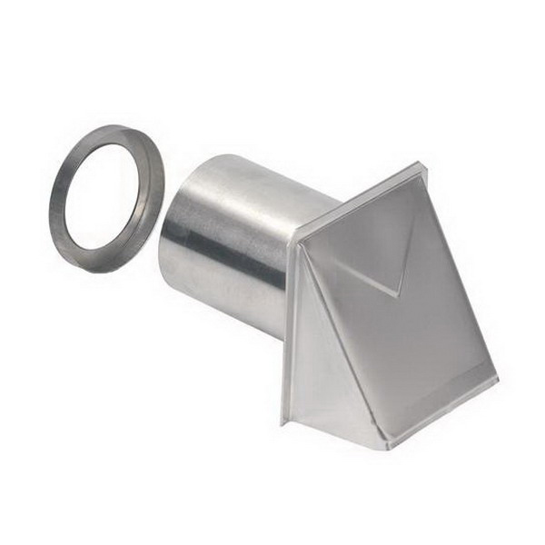 """""""""""Broan Nu-Tone 642 Wall Cap For 4 Inch Round Duct, Aluminum,"""""""""""" 53664"""